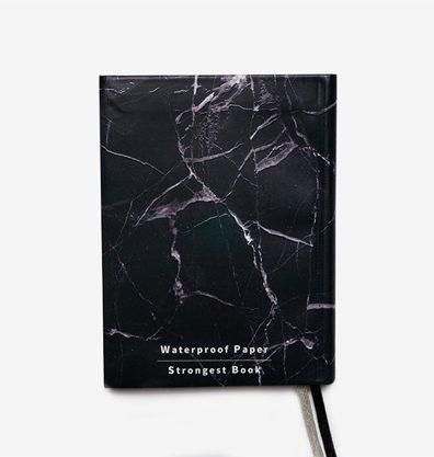 Carnet multifonction, noir A6 effet marbre (carnet en anglais)
