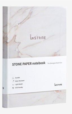 Carnet multifonction, blanc A5 effet marbre (carnet en anglais)